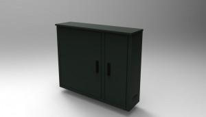 Montagekast op maat met dubbelen deuren