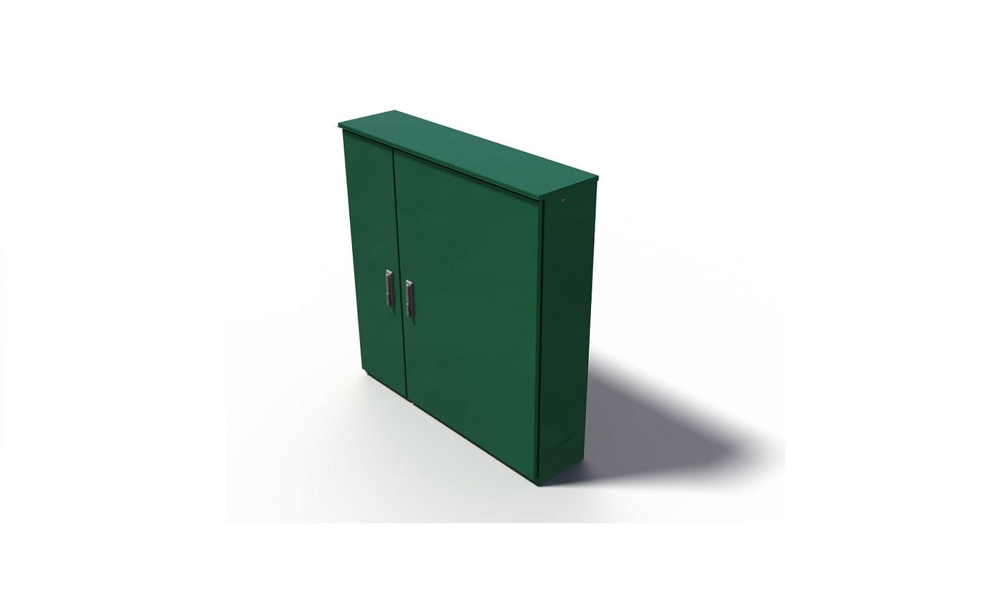 RVS montagekast met twee deuren