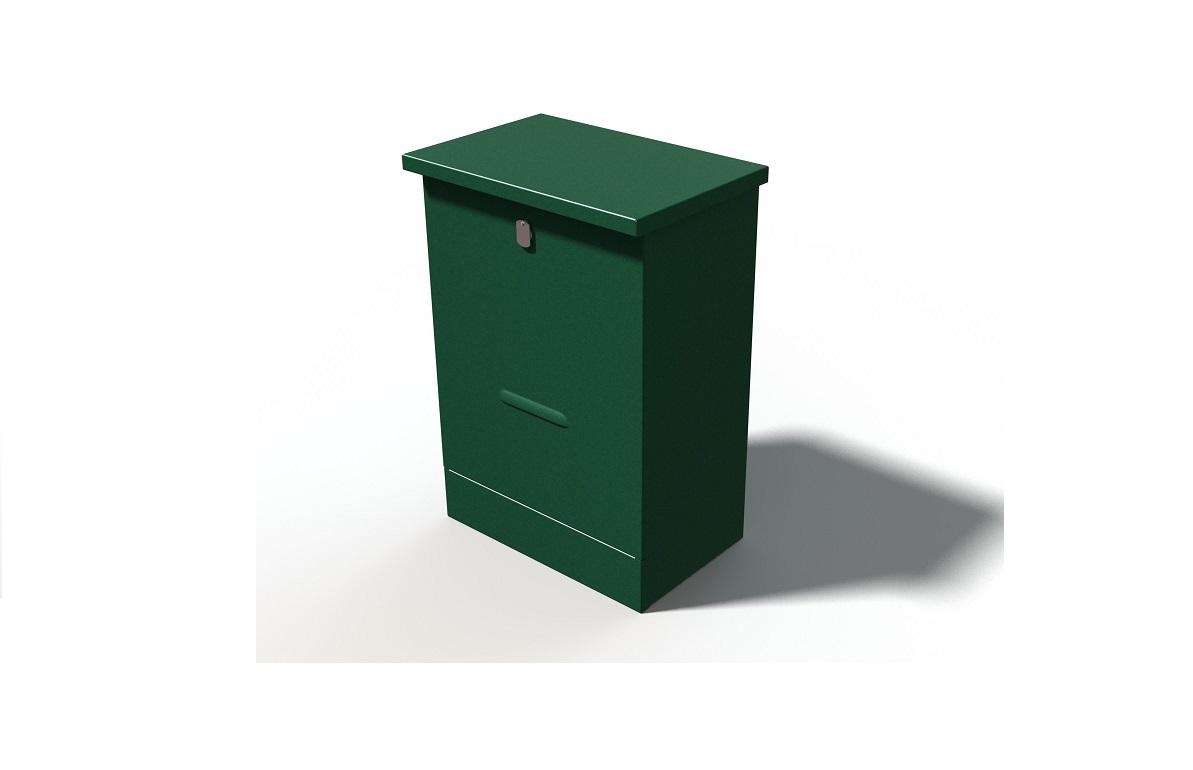 RVS montagekast met een deur